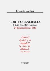 Portada: Gautier, Cortes Generales y Extraordinarias