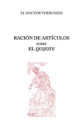 Thebussem: Ración de artículos sobre el Quijote